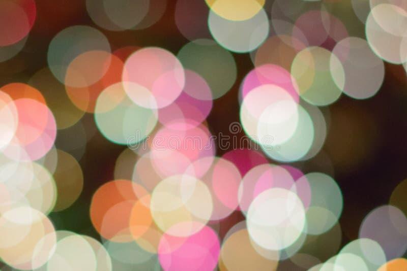 五颜六色的圣诞灯背景迷离抽象纹理  免版税图库摄影
