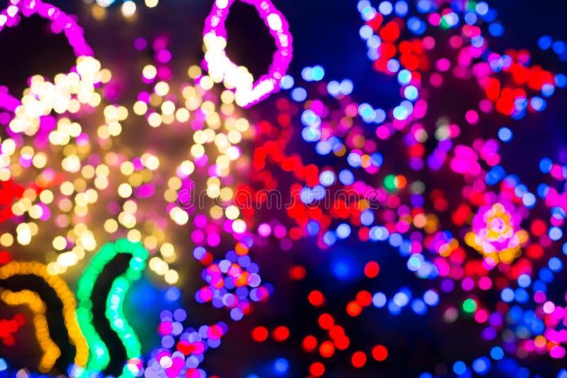 五颜六色的圣诞灯,可能使用作为背景 库存照片