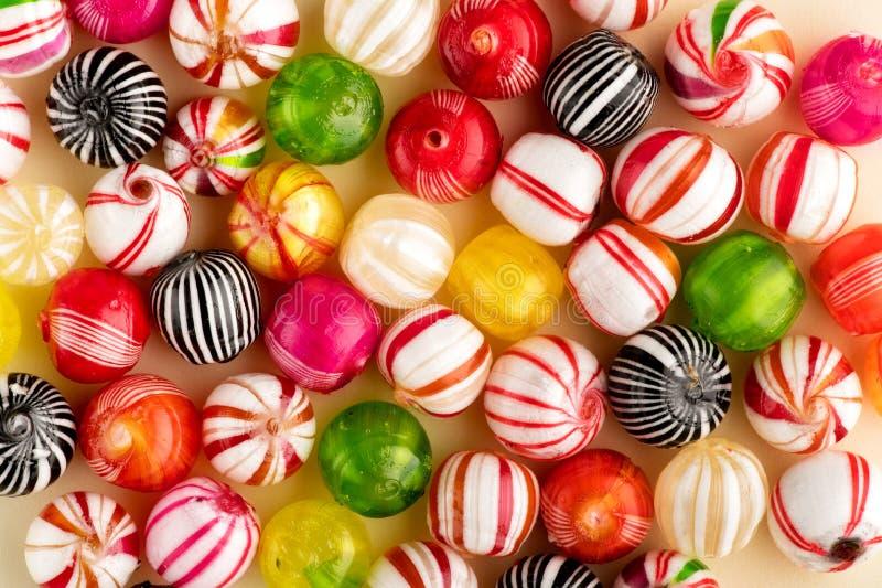 五颜六色的在充分的框架的糖果顶视图 免版税库存图片
