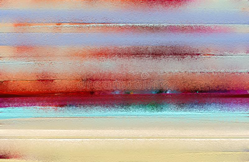 五颜六色的在帆布纹理的油paintiAbstract五颜六色的油画 库存照片