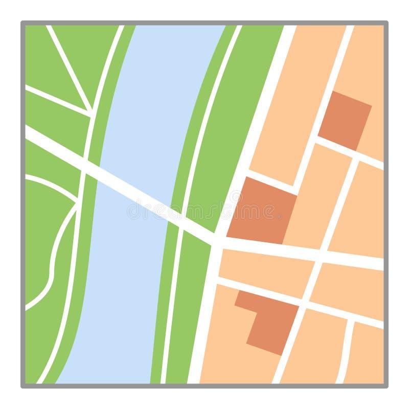五颜六色的在白色隔绝的地图平的象 向量例证