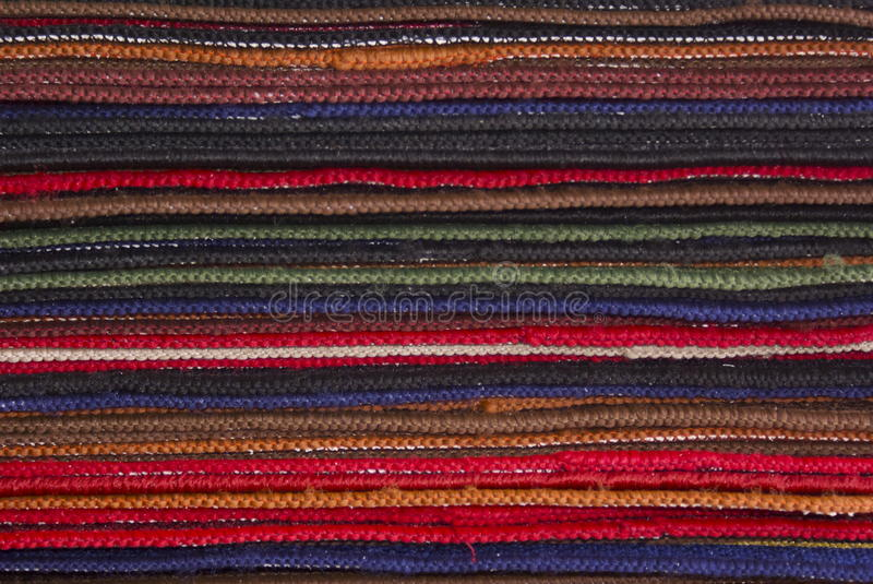 五颜六色的地毯和地毯 库存照片