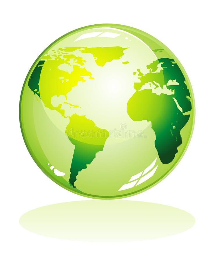 五颜六色的地球绿色图标 皇族释放例证