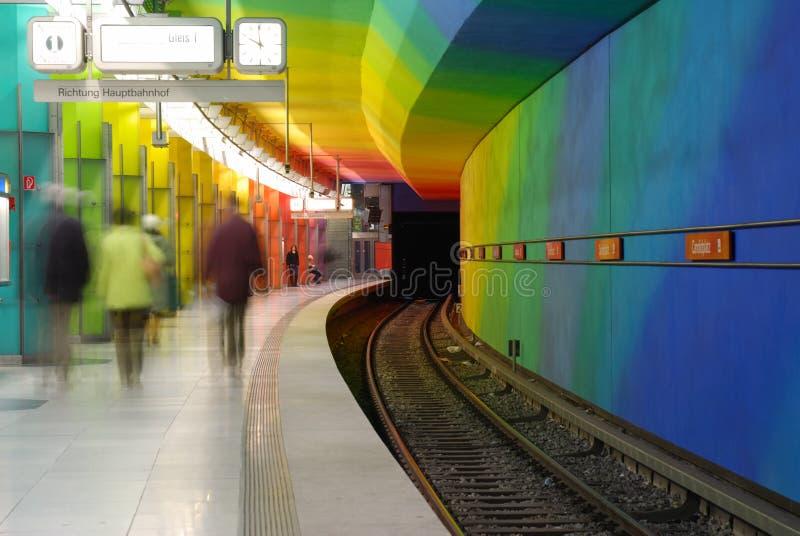 五颜六色的地铁 库存照片