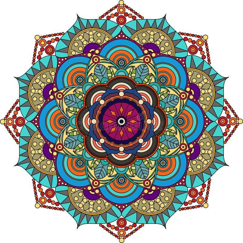 五颜六色的坛场,紫色,绿色,灰色,金子颜色 库存图片