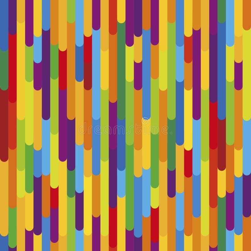五颜六色的垂直条纹背景纹理 无缝的模式 皇族释放例证