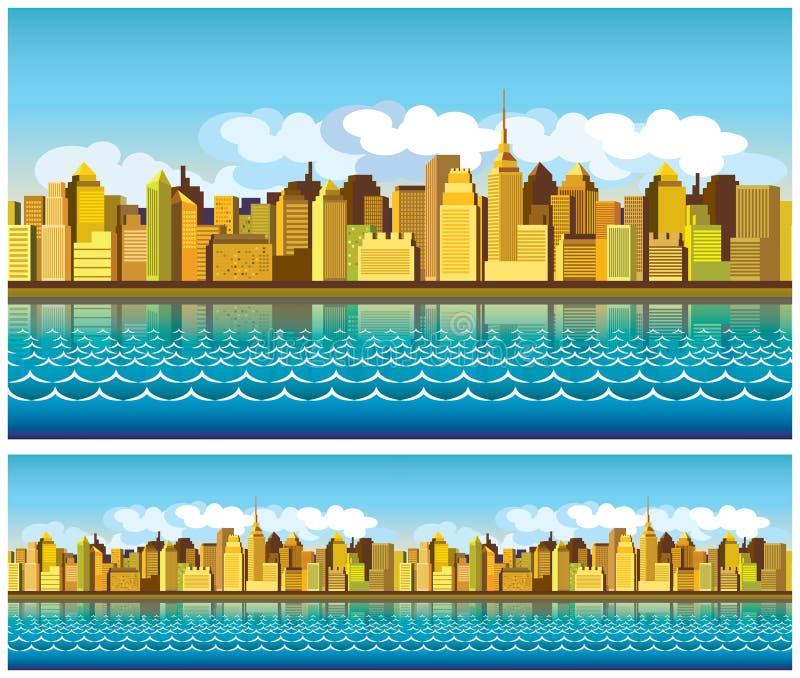 五颜六色的城市 向量例证