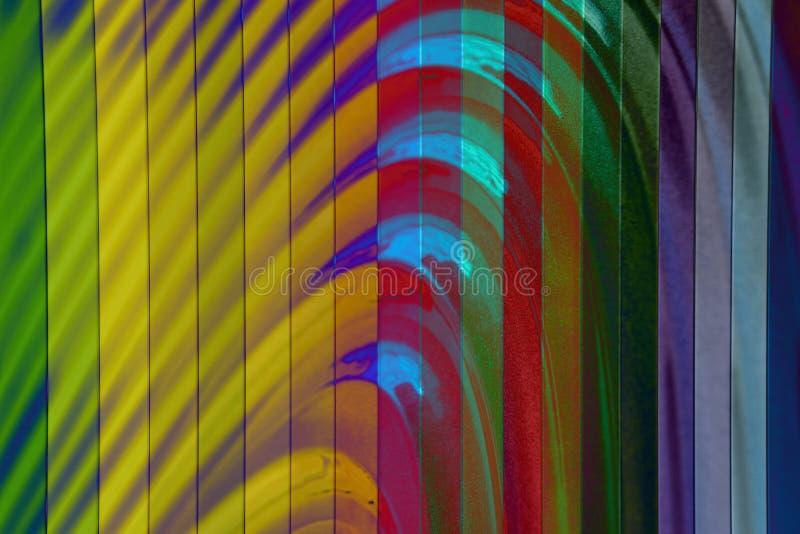 五颜六色的墙壁纹理,抽象样式,波浪波浪现代,几何交叠层数背景 免版税库存照片