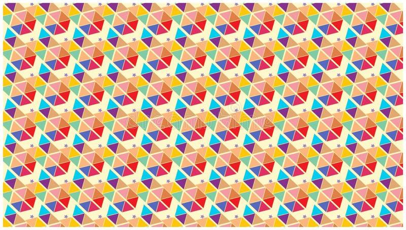 五颜六色的墙纸担任主角几何三角的形状 皇族释放例证