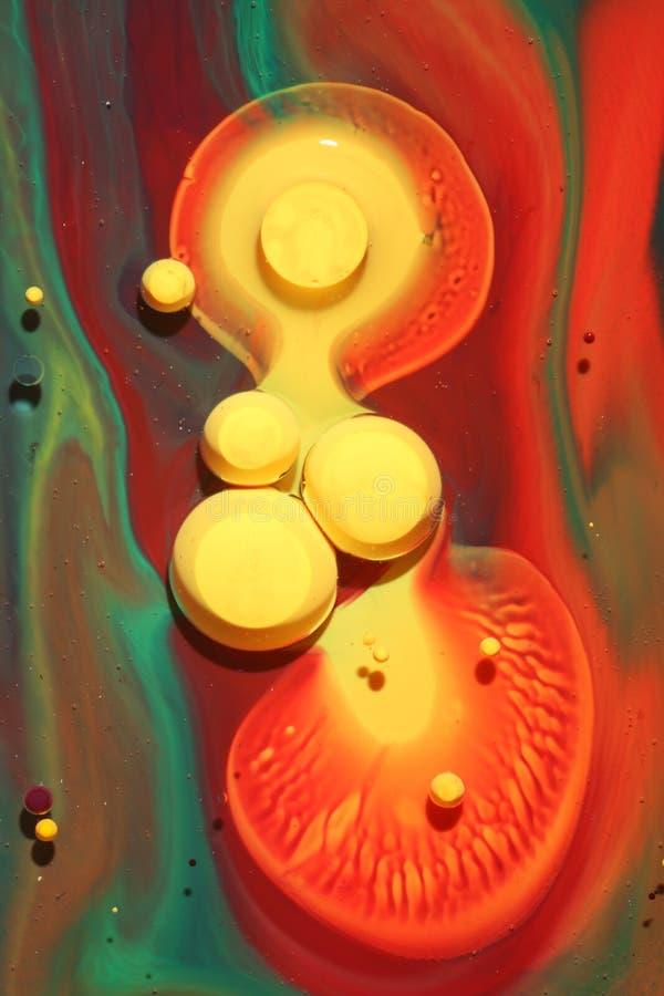 五颜六色的墨水模式 免版税库存图片