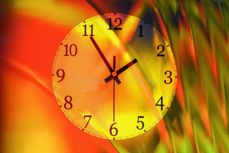 五颜六色的壁钟 免版税库存图片