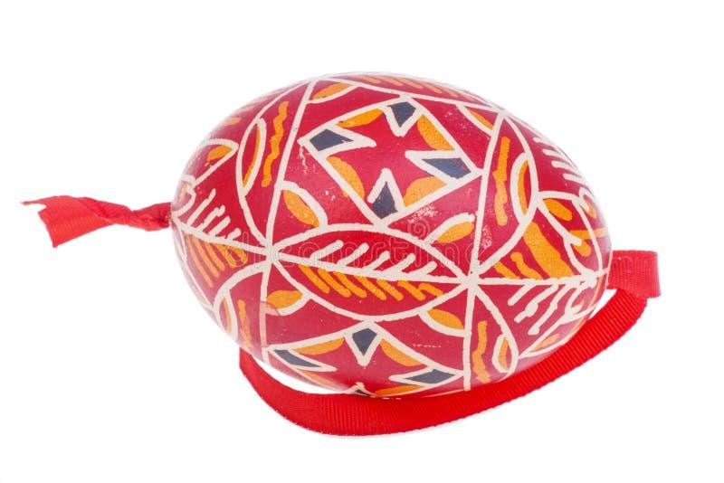 五颜六色的复活节彩蛋细节在白色背景的 免版税库存图片