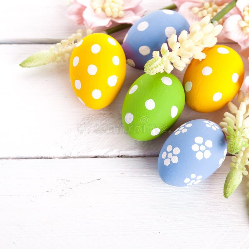 五颜六色的复活节彩蛋 库存照片