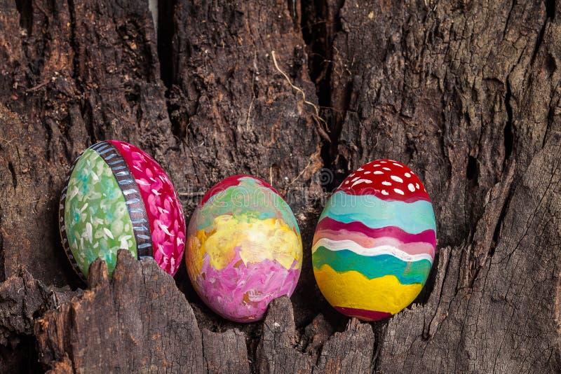 五颜六色的复活节彩蛋 图库摄影