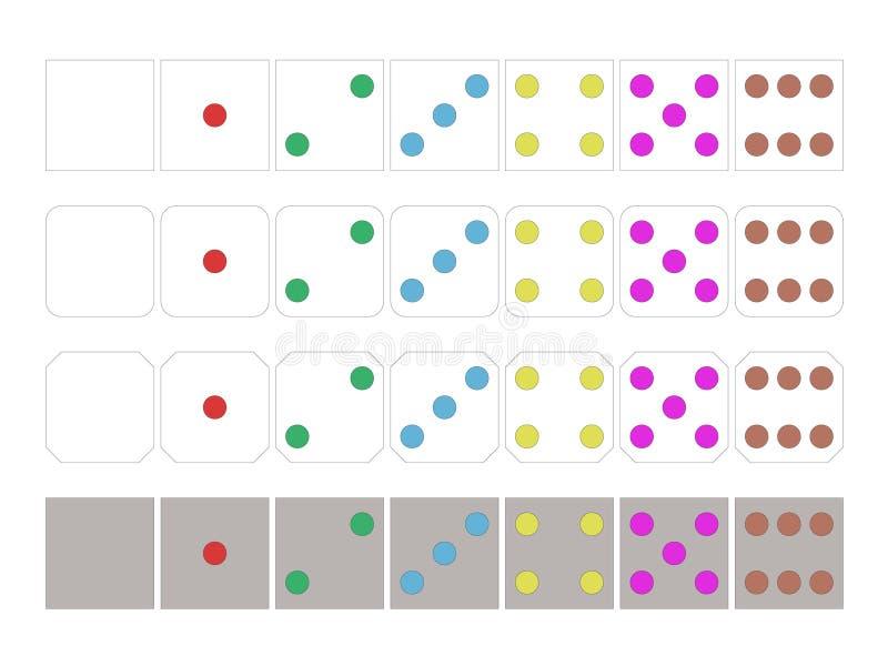五颜六色的多米诺样式 皇族释放例证