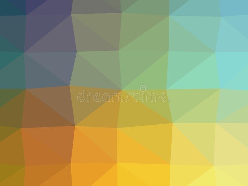 五颜六色的多角形例证 免版税库存照片