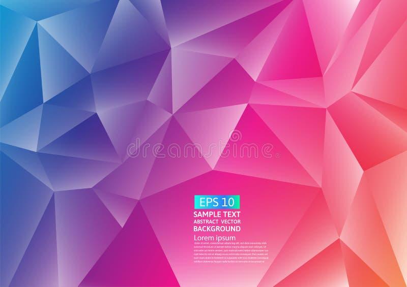 五颜六色的多角形摘要背景设计 可变的梯度塑造构成未来派设计 也corel凹道例证向量 库存例证