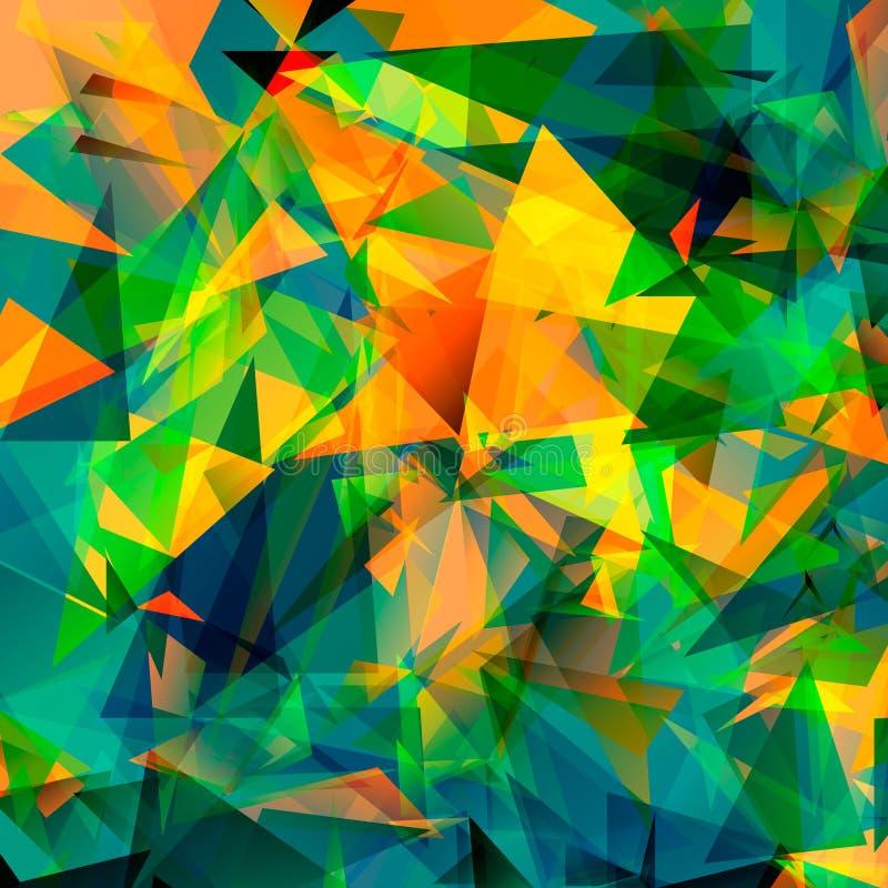 五颜六色的多角形背景或传染媒介框架 抽象三角几何背景,传染媒介例证EPS10 库存例证