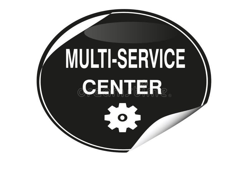 五颜六色的多重服务的中心象网按钮 向量例证