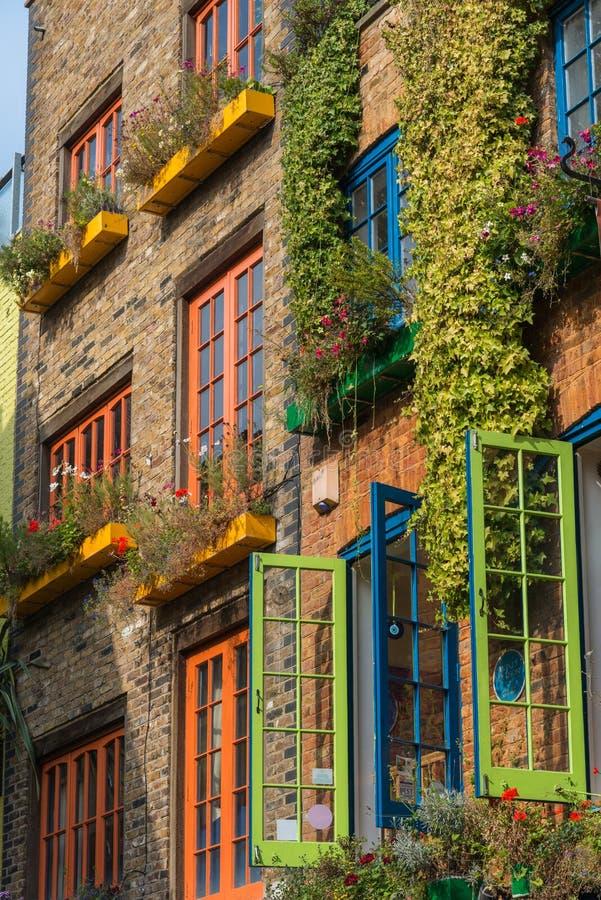 五颜六色的大厦在伦敦 免版税图库摄影