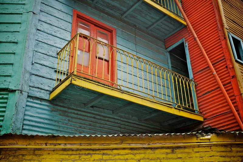 五颜六色的大厦在布宜诺斯艾利斯 库存照片