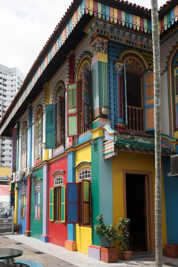 五颜六色的大厦的片段 免版税库存图片