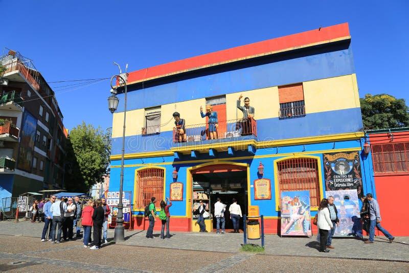 五颜六色的大厦,拉博卡在布宜诺斯艾利斯 免版税库存照片