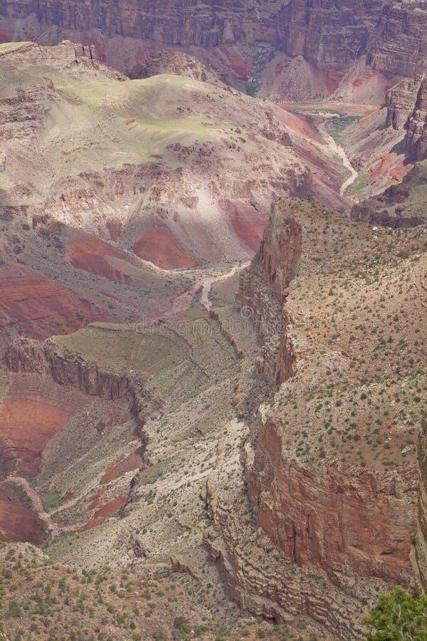 五颜六色的大峡谷 图库摄影
