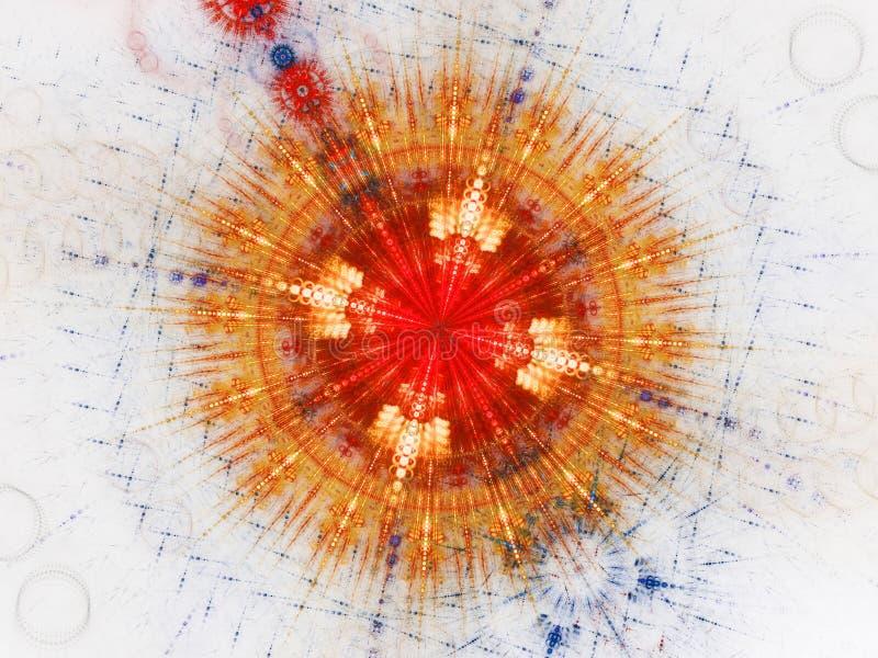 五颜六色的太阳抽象概念 皇族释放例证
