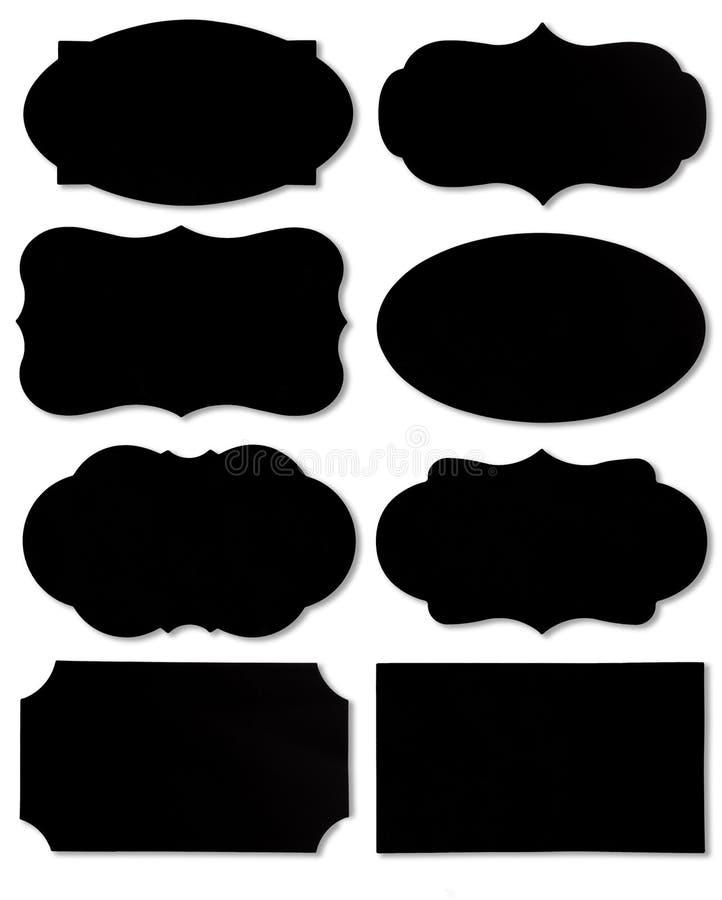 五颜六色的套另外讲话泡影作为在空的白色背景隔绝的云彩 皇族释放例证