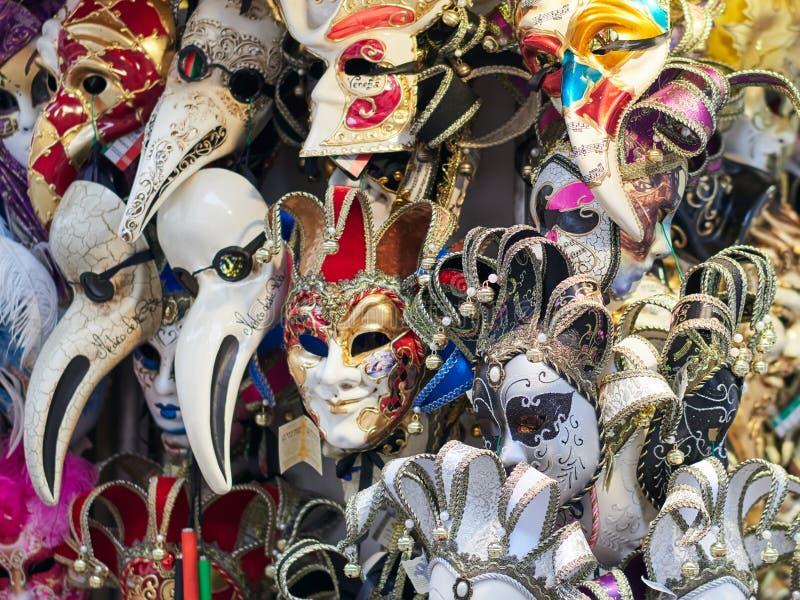 五颜六色的威尼斯面具形象 库存图片