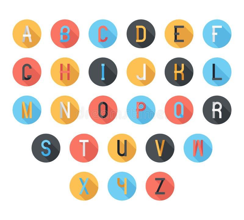 五颜六色的字体 库存例证
