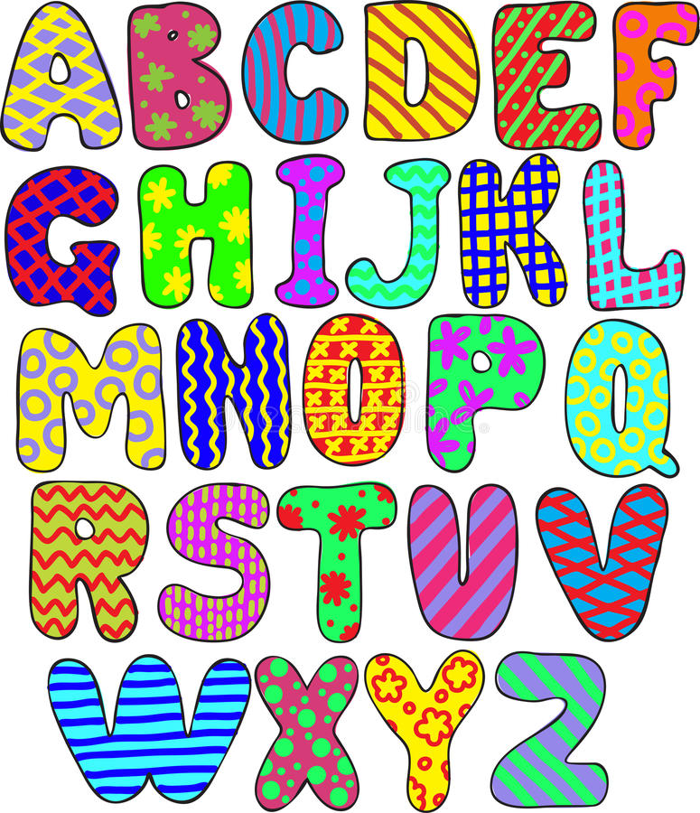 五颜六色的字母表 皇族释放例证