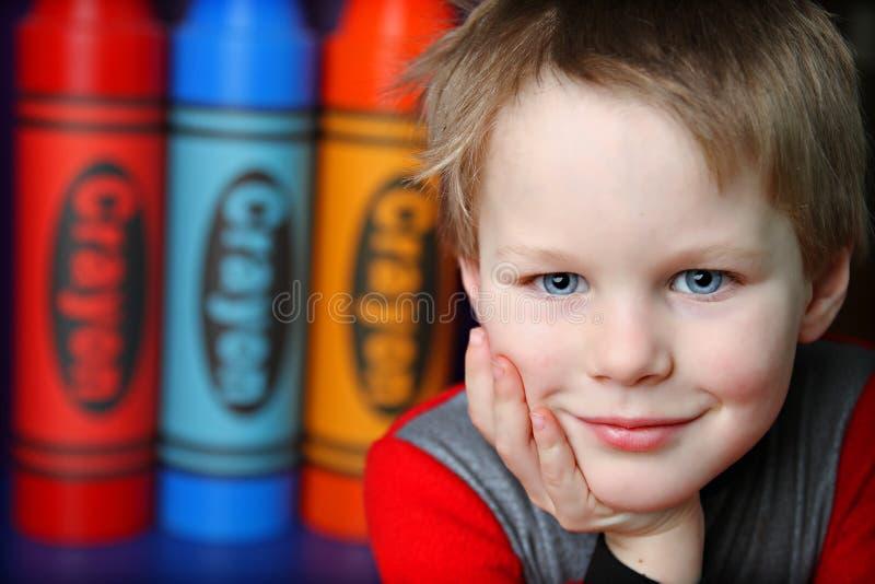 五颜六色的孩子 免版税库存照片