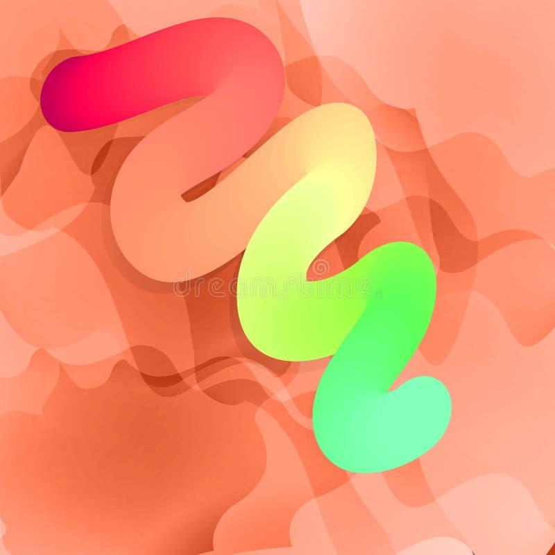 五颜六色的容量被挤的牙膏或蠕虫 也corel凹道例证向量 库存例证