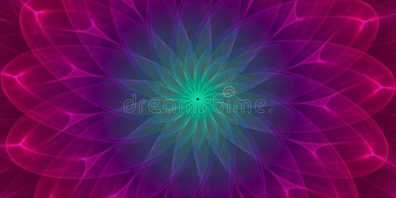 五颜六色的对称抽象背景 库存例证