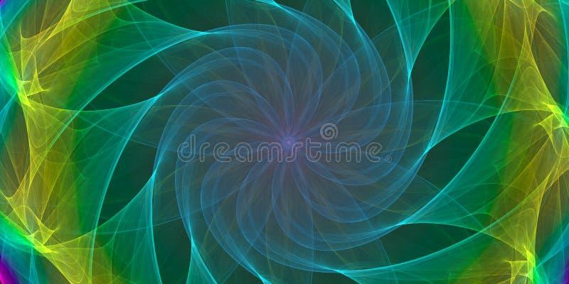 五颜六色的对称抽象背景 皇族释放例证