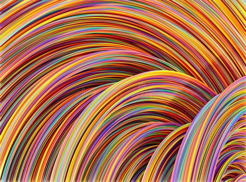 五颜六色的导线 向量例证
