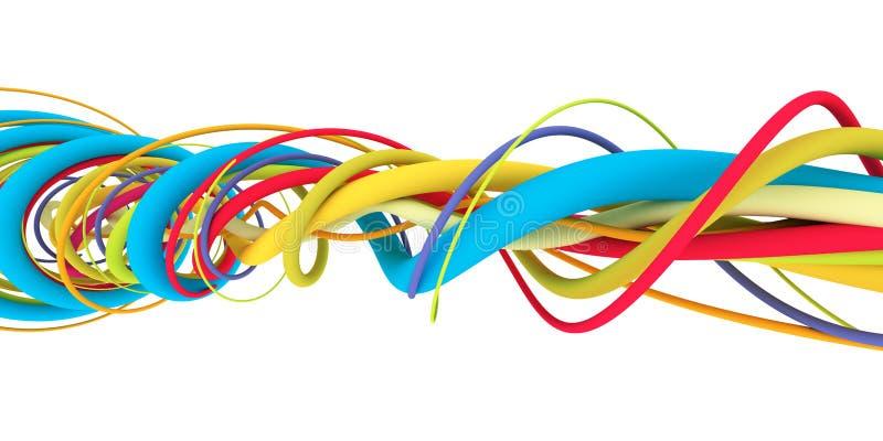 五颜六色的导线 库存例证