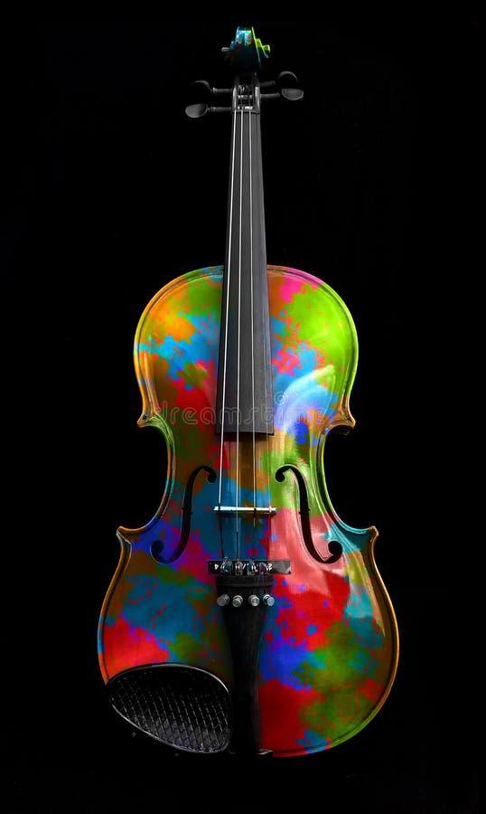 五颜六色的小提琴 库存照片