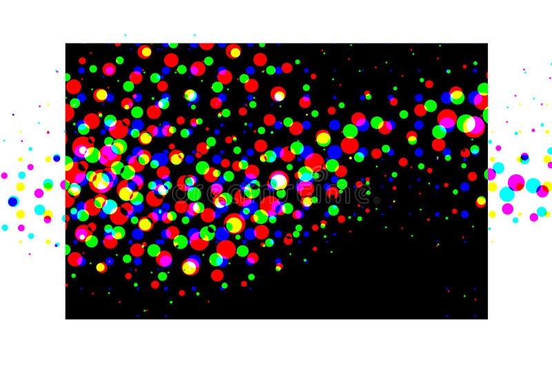 五颜六色的小点中间影调向量 库存例证