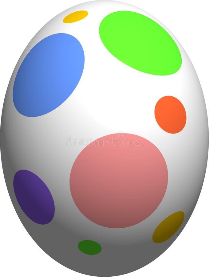 五颜六色的小点复活节彩蛋短上衣 库存例证