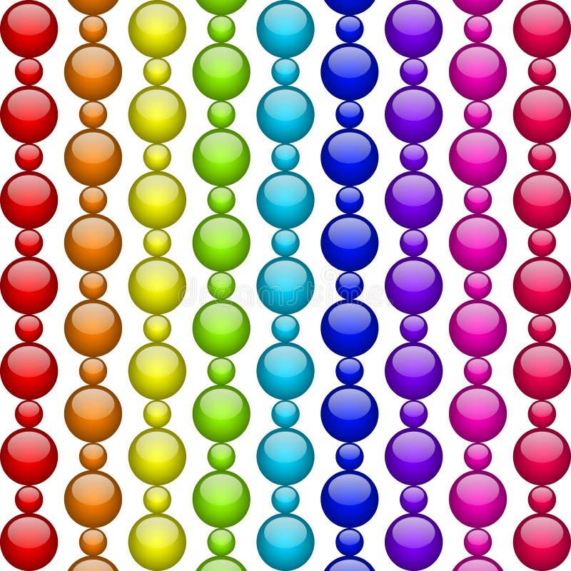 五颜六色的小珠 向量例证