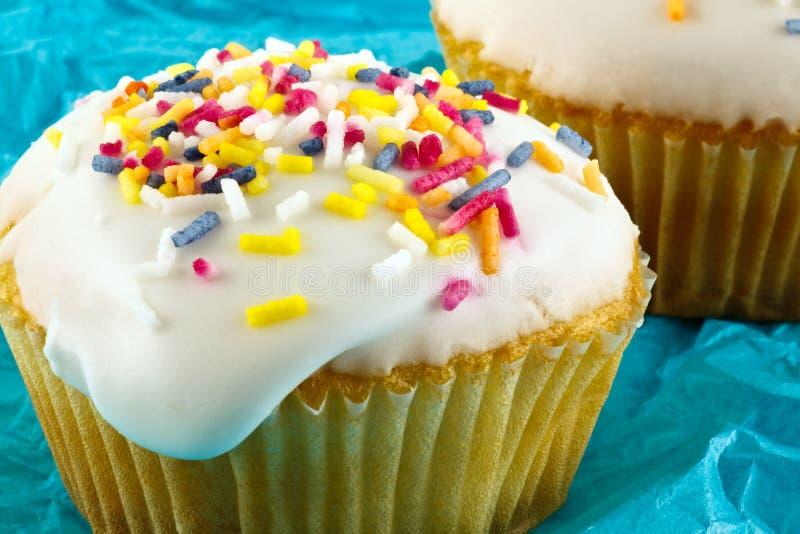 五颜六色的小的杯形蛋糕 库存照片
