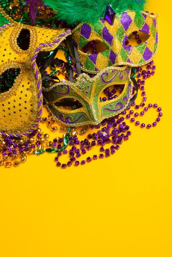 五颜六色的小组狂欢节或威尼斯式面具 免版税库存照片