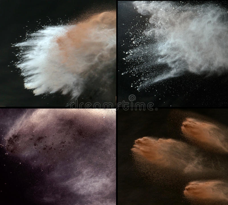 五颜六色的尘土的多张图片 免版税图库摄影