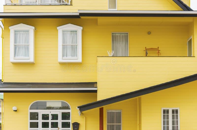 五颜六色的居民住房在日本 免版税库存图片