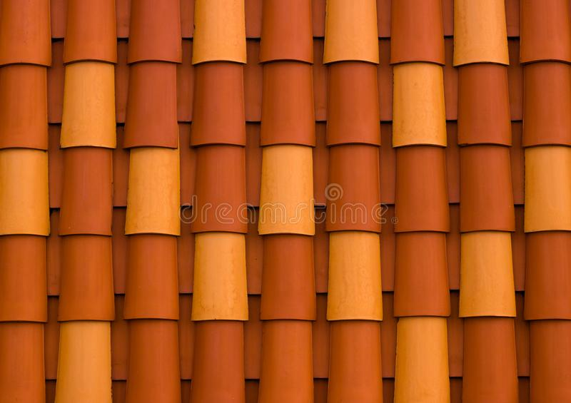 五颜六色的屋顶细节  库存图片