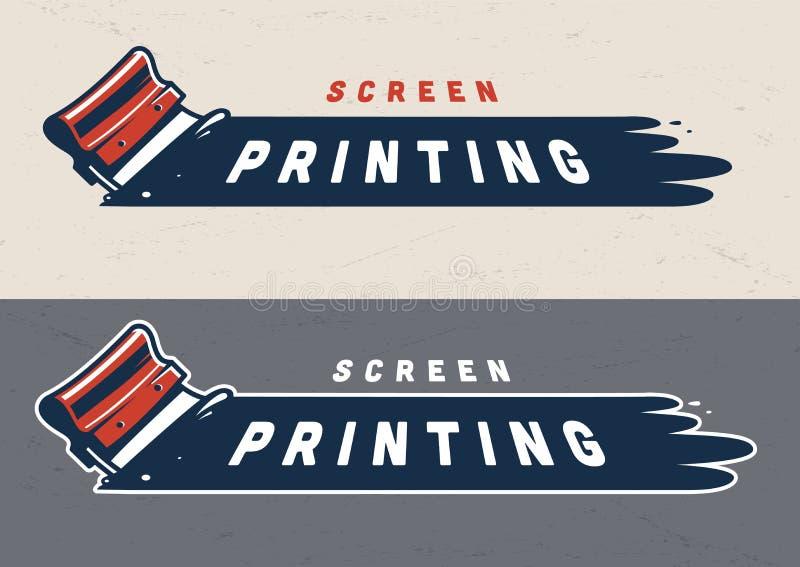 五颜六色的屏幕打印概念 向量例证