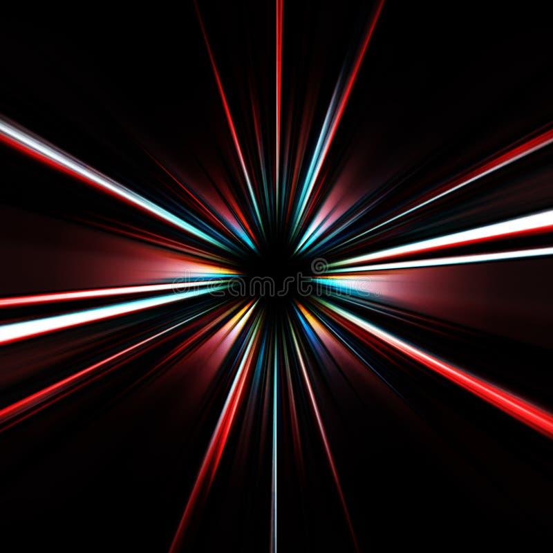 五颜六色的展开的星形 库存例证